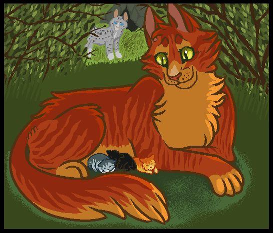 Warriors Erin Hunter Wallpaper: Squirrelflight In The Nursery By Skelos-kath On DeviantART