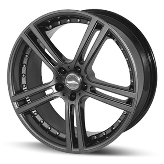 TEAM DYNAMICS LE MANS ANTHRACITE GLOSS alloy wheels with stunning look for 5 studd wheels in ANTHRACITE GLOSS finish with 19 inch rim size
