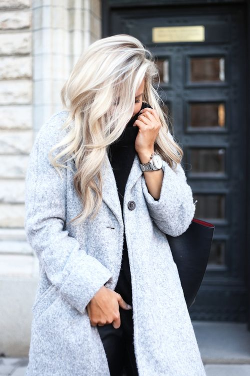 Fuzzy wool coat