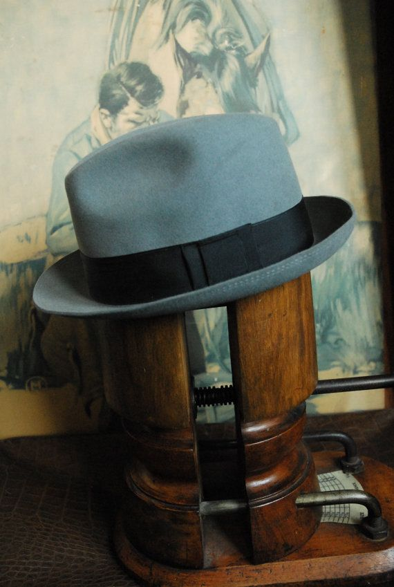 Vintage Mayser Zinc Grey Fur Felt Fedora Hat UK by TheVintageHatCo, £21.00