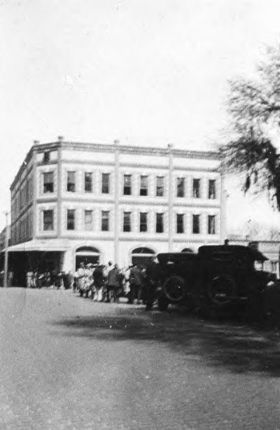 Downtown Marion Street, Lake City, directly across the town square from the courthouse. This is how the street would have looked when Meg and DeWitt knew it.