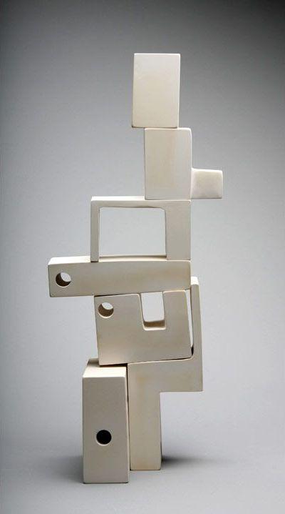 Andrew Molleur; Ceramic Modular 'Mad Man' Sculpture, c2012.