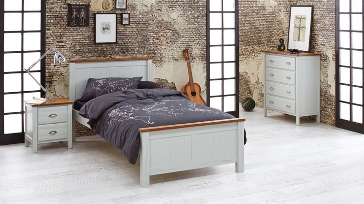 Clean and classic, the timeless design of the 'Cooper' makes it the ideal bed for growing kids. Expertly crafted from Radiata Pine perfectly offset with the natural warmth of American Ash tops, this style is also available as a single bed, with complementary pieces including a tallboy, desk, hutch for desk, dressing table and bedside table.