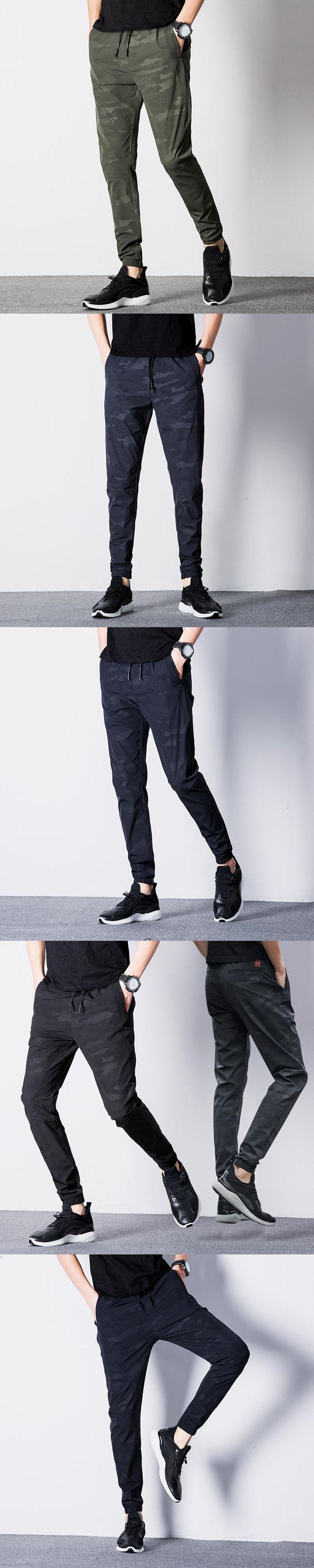 2017 Mens summer Army Casual Harem Pants Men Joggers Male Camo Pants Military long Trousers Elastic Waist Fitness sweatpants 38