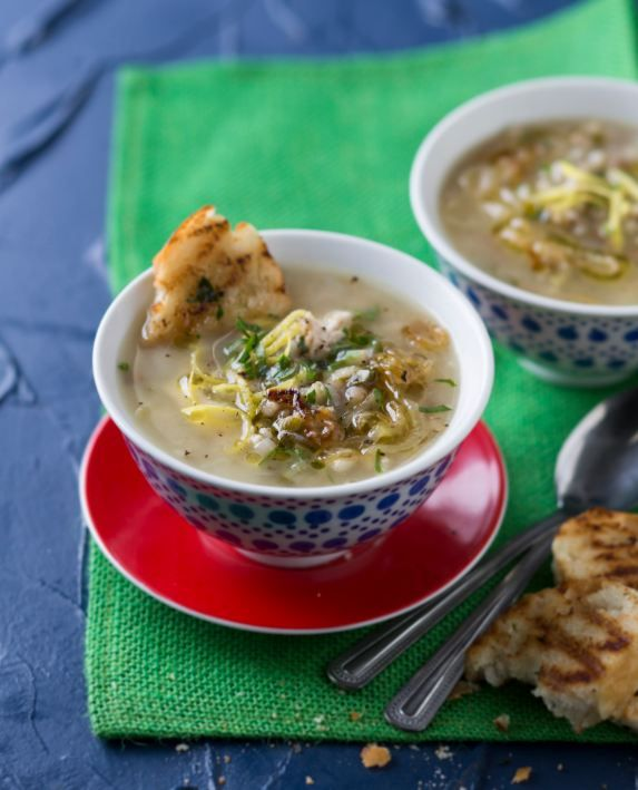 Chicken soup with herby bruschetta - #Soup #Mains #Recipe >>> http://www.picknpay.co.za/recipe-search-results/chicken-soup-with-herby-bruschetta