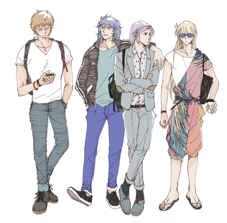 Aioria, Milo, Mü and Shaka