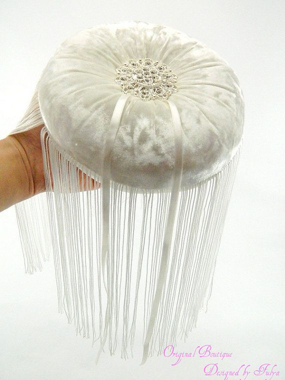 Ivory silk velvet wedding ring pillow with by originalboutique, $33.50