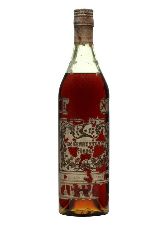 A rather old bottle of Hennessy's 3 star cognac. This appears to have been produced during the 1950s.