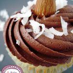 Cupcakes al Cocco con frosting al Cioccolato al latte