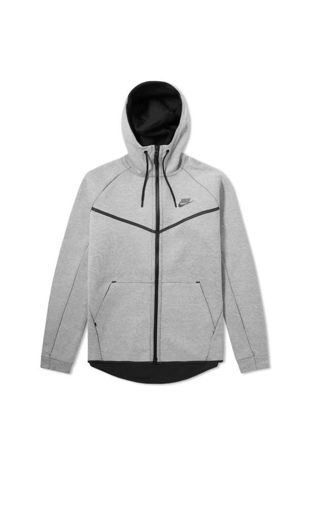06435ae80d09 Nike Tech Fleece Windrunner Hoodie Light Bone Heather Grey Sz Small 805144  072  Nike  FullZipHoodie