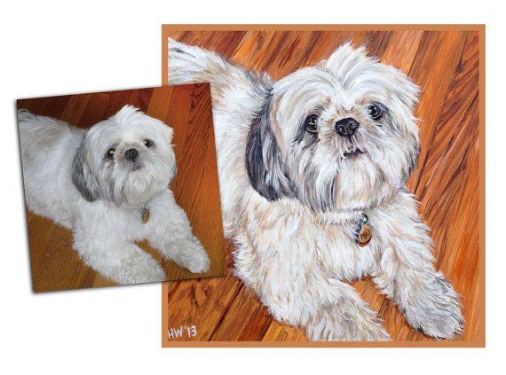 PEINTURE de chien CUSTOM animal portrait peinture à l