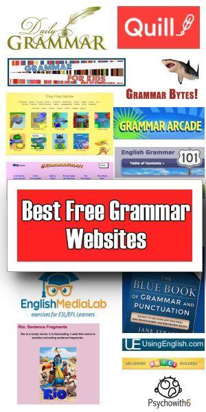 The Best Free Grammar Websites - http://www.psychowith6.com/the-best-free-grammar-websites/