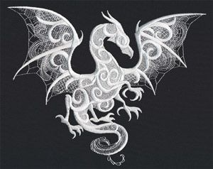 An FSL Dragon!  How awesome is this? Dragon Smoke   Urban Threads: Unique and Awesome Embroidery Designs