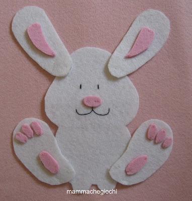 Coniglietto pasquale che diventa puzle