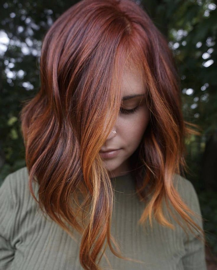 This Rich Copper Melt Is Fall's Biggest Hair Trend