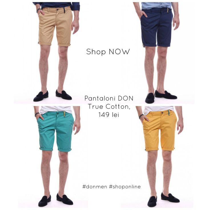 Pantaloni scurti DON True Cotton, 149 lei Shop NOW #donmen #shoponline don-men.com