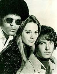 The main cast in 1971, from left: Clarence Williams III, Peggy Lipton and Michael Cole.