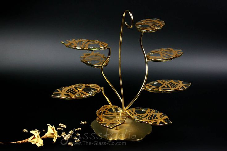 Golden high tea stand custom designed for Ritz-Carlton Macau by www.the-glass-co.com