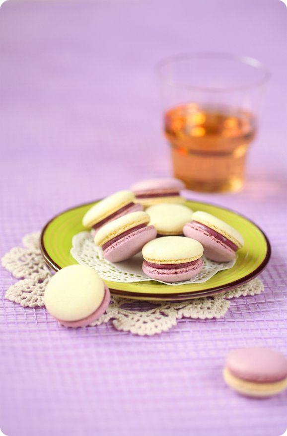 Verdade de sabor: Макаронс с черникой и лаймом / Macarons de mirtilo e lima