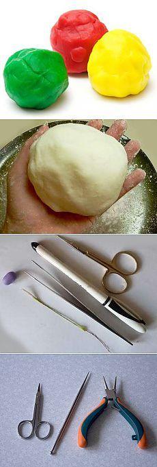 Рецепты приготовления холодного фарфора для разных изделий.