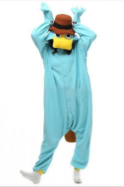 Funny Disney Perry Unisex Adult  platypusonesie Costume  pajamas ... afdf9b605