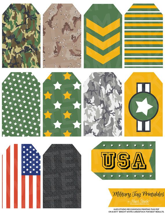 Cool Military Party Printables for the party