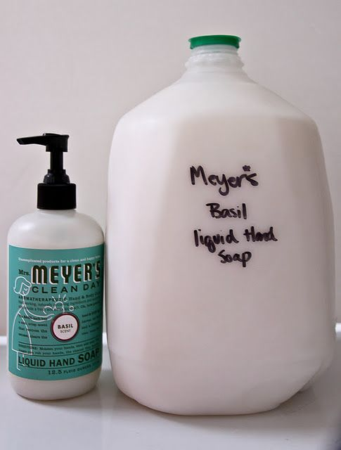 make a gallon of liquid hand soap from a bar of soap. whoa!