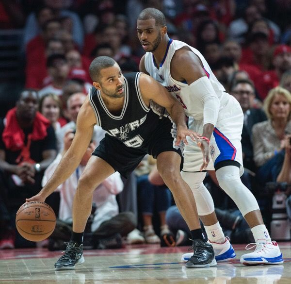 Tony Parker helped off court Wednesday-Dr. Parekh = San Antonio Spurs Tony Parker injured his left knee in Wednesday's game. Will get an MRI today. Best case knee sprain, out one to two weeks. Worst case ligament tear or bad…..