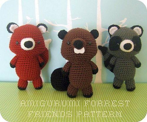 Amigurumi Forest Animals : Forrest Friends Amigurumi Crochet Pattern Set pattern by ...