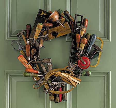 Love It or Hate It? Tool Wreath for the hubby's work shop