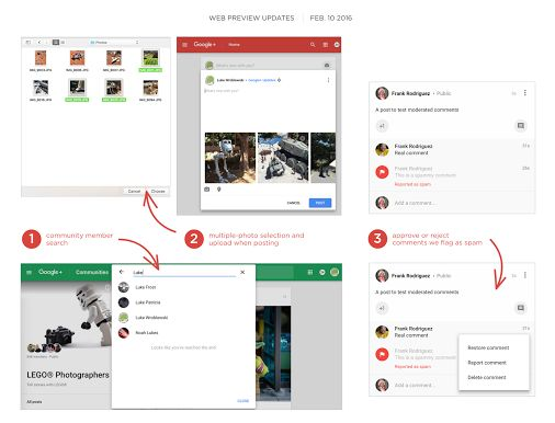 G+ Web Preview Update Feb 10 Today we're starting to roll out several improvements and bug fixes on the new Google+ Web preview including:  * 102 bug…  -  Luke Wroblewski – Google+