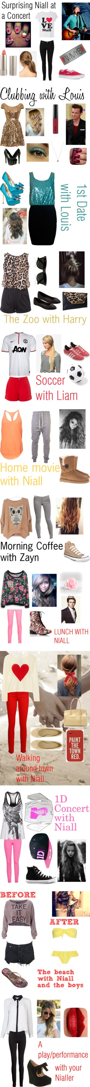 """One Direction Scenarios"" by rubyh-1 ❤ liked on Polyvore I really like some of these outfits :)"