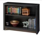 "Hoot Judkins Furniture|San Francisco|San Jose|Bay Area|Oak Wood Design Furniture|Basic Maple Wood||Custom Bookshelves||Oak Wood Design|Alder Wood Pacific Urban 30"" High Bookcase in Black Finish"
