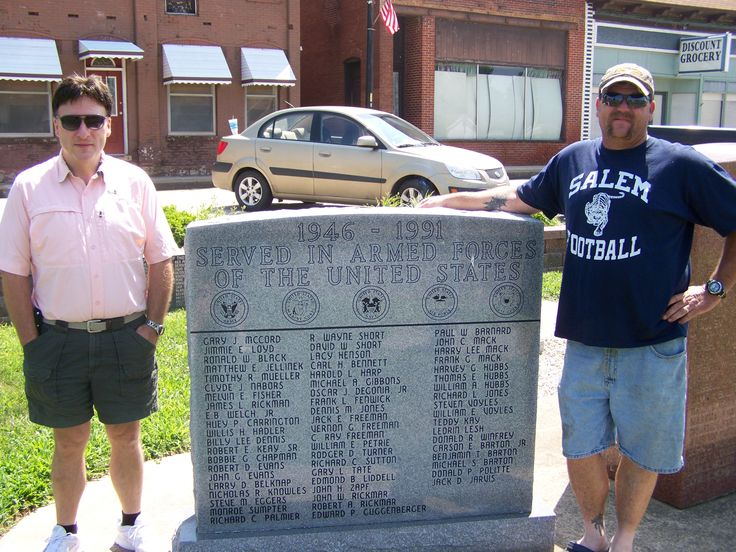 My husband Chris and his Uncle Jim at the Bismarck veterans memorial!