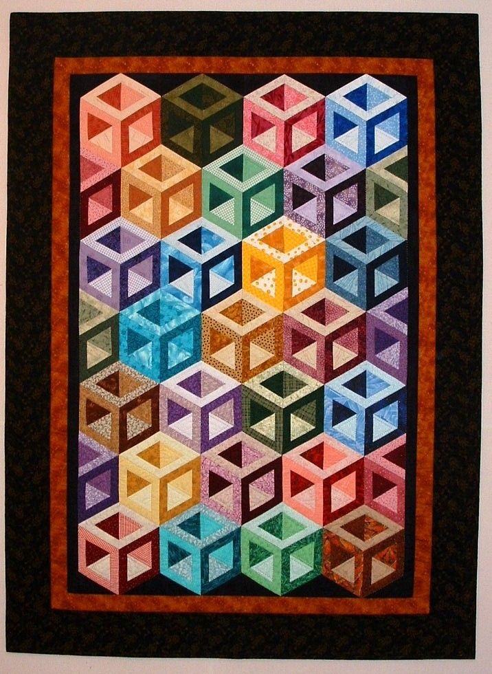 Hollow Cube Scrappy Quilt Made From Sara Nephew S Big