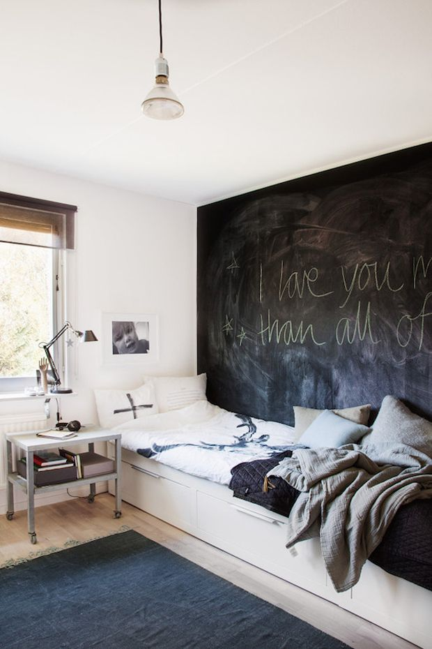 CHALKBOARD WALL | SCANDINAVIAN INTERIOR | KIDS ROOM |