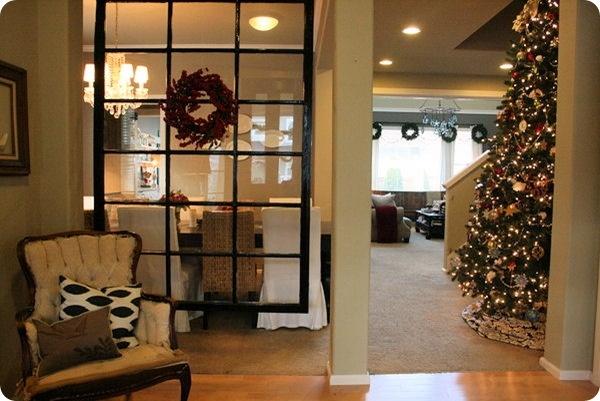 The stockings are hung our house tour casas en el campo separadores de ambiente y separaci n - Separadores de ambientes originales ...