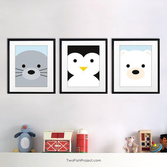 Nursery Decor Arctic Polar Bear Wall Art By TwoFishProject