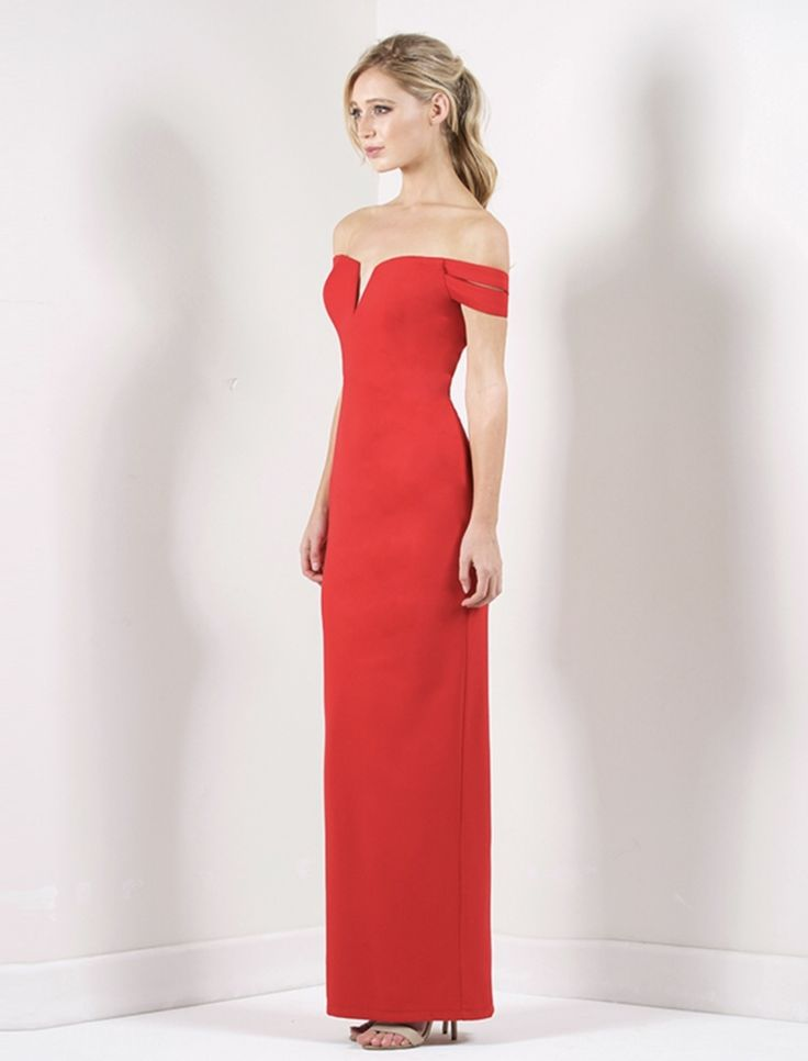 Bariano - Josephine Off Shoulder Gown - B23d03