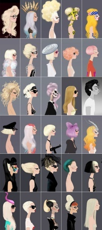 A painting collage of various Gaga moments would be nice on my walk-in closet room, noh?