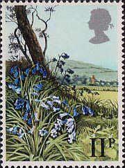 British Flowers Stamp - Bluebell - 1979