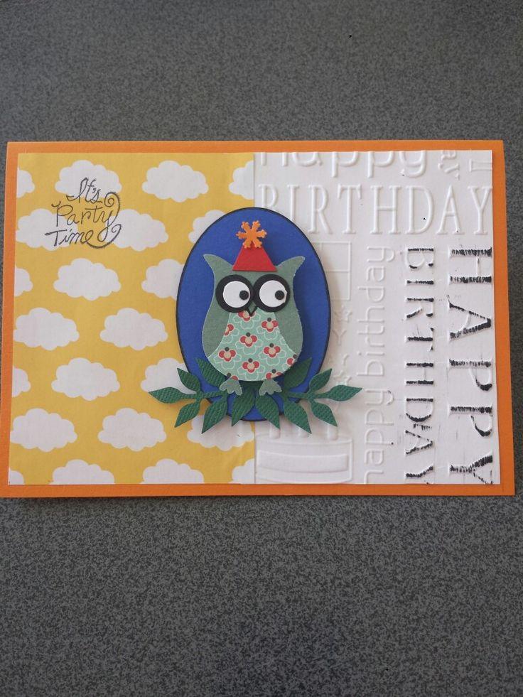 Fødselsdagskort lavet med owl punch.