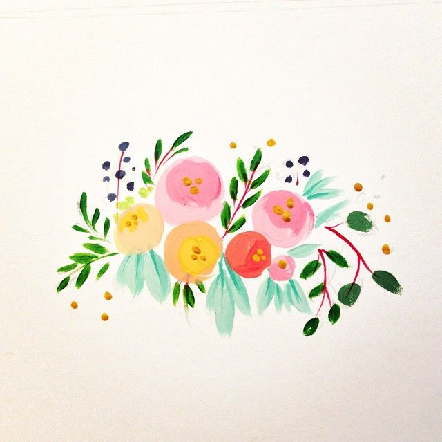 281 best floral images on pinterest water colors for How to paint simple watercolor flowers
