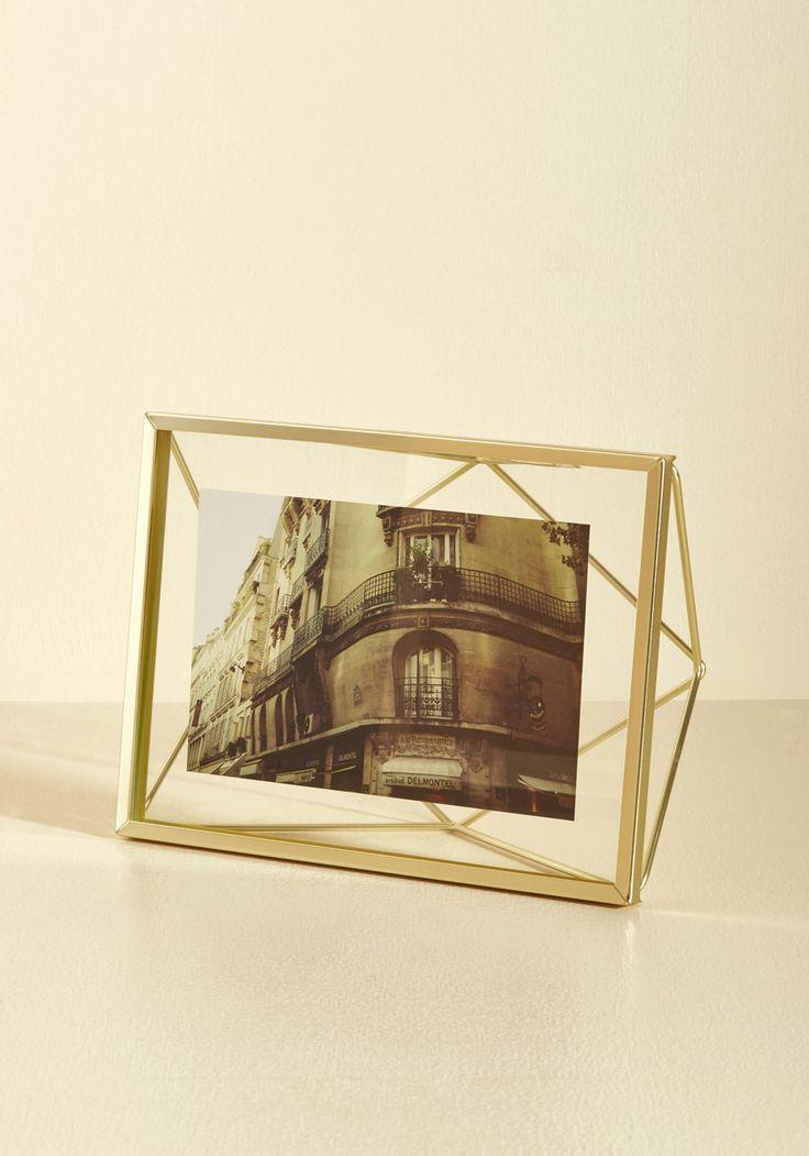 Memorable Dimension Single-Photo Frame in Gold, #ModCloth