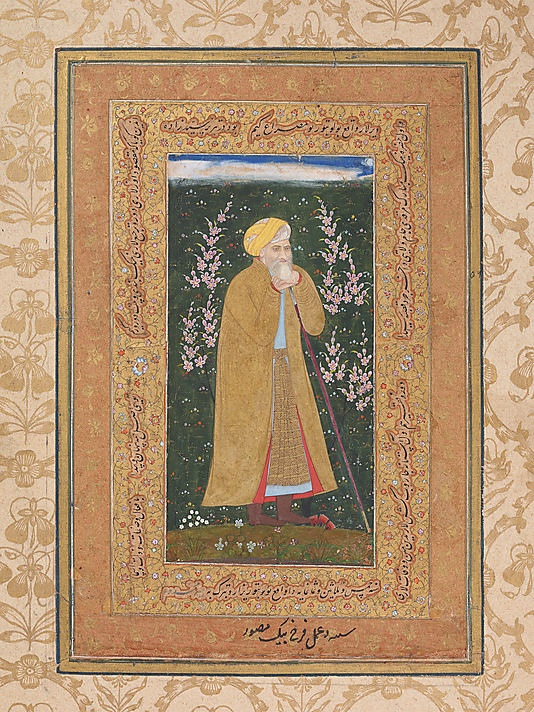 Self-Portrait of Farrukh Beg: Page from a Muraqqa of Shah Jahan  Farrukh Beg, c. 1615