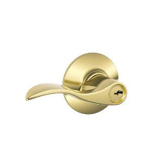 Schlage F51VACC505 Accent Entry Lever, Bright Brass by Schlage Lock Company. Save 47 Off!. $50.30. From the Manufacturer                The F-Series features superior quality locks backed by a Lifetime Mechanical and Finish Warranty when used in residential applications. Meets or exceeds ANSI Grade 2 performance standards including 400,000 cycle ANSI Grade 2 requirements. The F-Series line's elegant craftsmanship and sleek designs blend with any decor, making Schlage the perf...