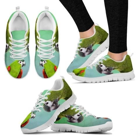Buy #ParrotPrintedShoes for men or women online from My dogcloset on heavy discount price in US.  https://mydogcloset.com/collections/parrot-printed-running-shoes