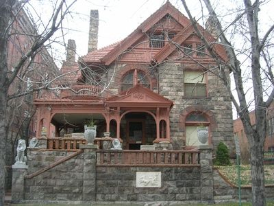 """Molly Brown House, Denver, CO - was built in the 1880's and is famous for it's previous owner, the """"Unsinkable Molly Brown"""". Once set for demolition, it has been preserved and restored, and now serves as a museum. Activity includes shades opening and closing on their own, shadow figures, the smell of cigar smoke (non-smoking house - Molly's husband was known as a heavy cigar smoker) and apparitions."""