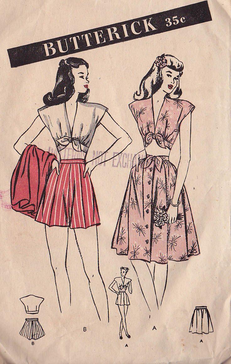 Butterick 3756 | via Vintage Pattern Wiki.