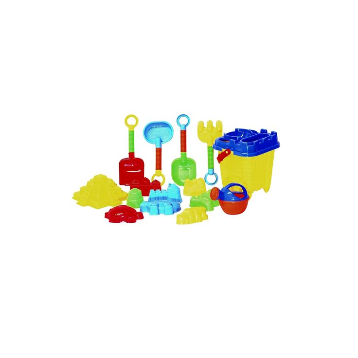 Beach Toys For Kids with Reusable Mesh Bag Castle Bucket and Mold - Justforkids,